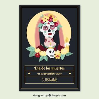 Cartaz do partido mexicano com noiva morta
