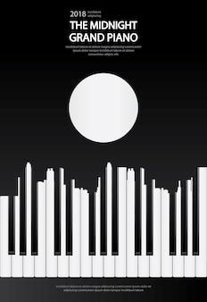 Cartaz do piano de cauda da música