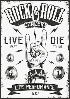 Cartaz do rock and roll