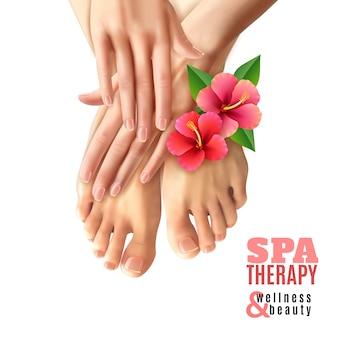 Cartaz do salão de beleza dos termas do manicure