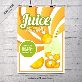 Cartaz do sumo de laranja