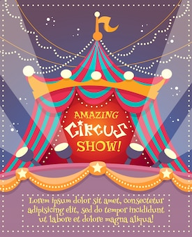 Cartaz do vintage do circo