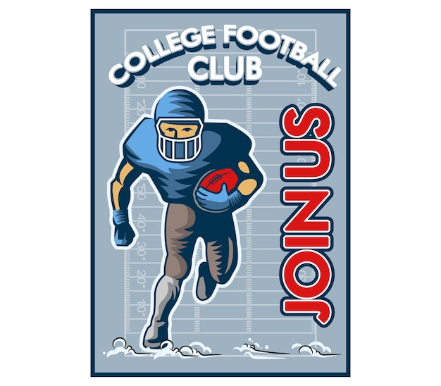 Cartaz do vintage do recrutamento do faculdade