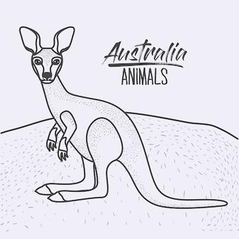 Cartaz dos animais australianos
