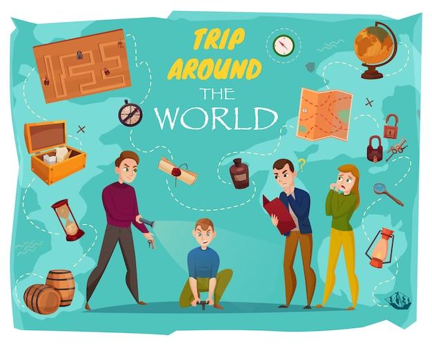 Cartaz dos desenhos animados da realidade do jogo da pôster