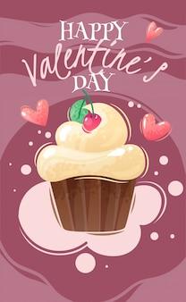 Cartaz dos desenhos animados do dia dos namorados