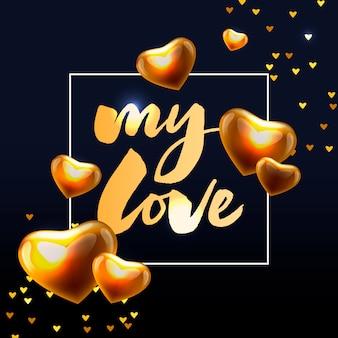 Cartaz dos namorados, cartão, elementos de slogan de carta banner para elementos do dia dos namorados. tipografia amor coração