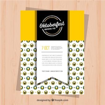 Cartaz elegante para o mais oktober com design plano