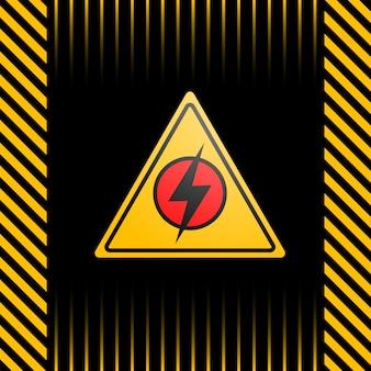 Cartaz em preto e amarelo com um aviso sobre falta de energia