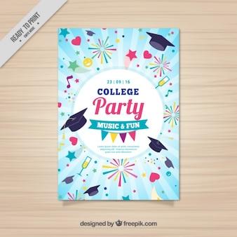 Cartaz engraçado para o partido da faculdade