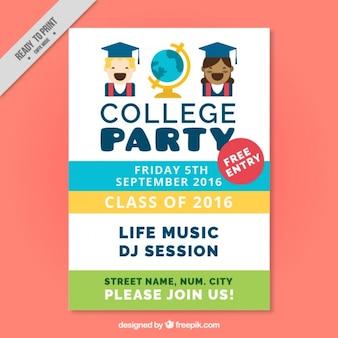 Cartaz fantástico para a festa de faculdade