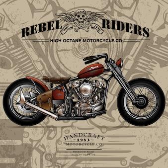 Cartaz feito sob encomenda clássico da motocicleta do interruptor inversor