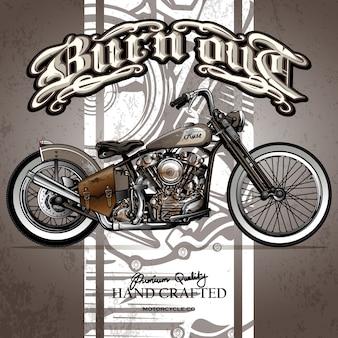 Cartaz feito sob encomenda da motocicleta do vintage