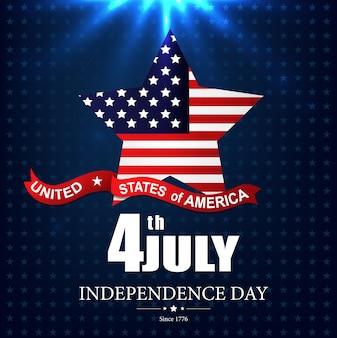 Cartaz feliz do dia da independência dos eua o 4 de julho