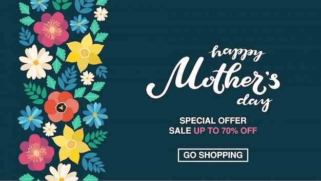 Cartaz feliz do dia das mães