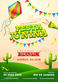 Cartaz festa junina.