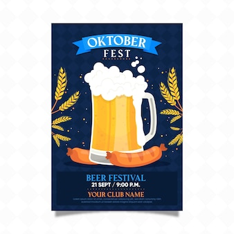 Cartaz festival oktoberfest plana