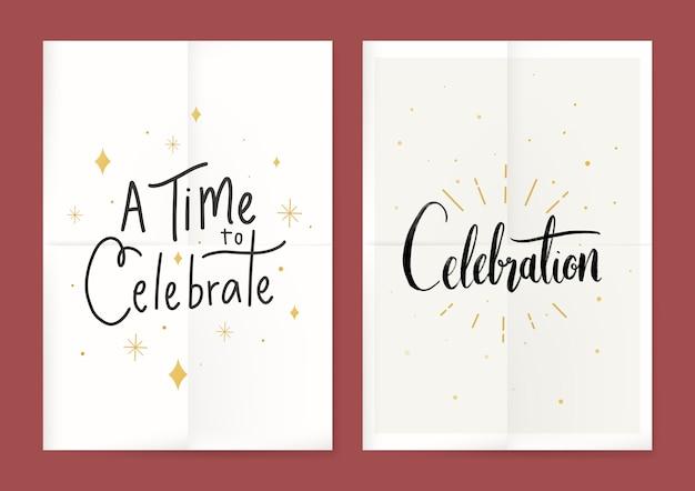 Cartaz festivo de celebrações