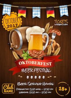 Cartaz festivo de oktoberfest