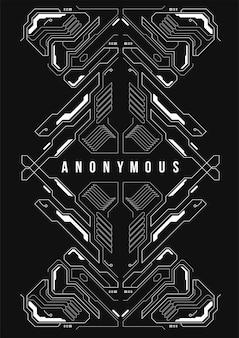 Cartaz futurista de cyberpunk. modelo de cartaz futurista retrô. modelo de cartaz abstrato tecnologia.