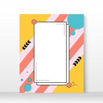 Cartaz geométrico irregular minimalista criativo.