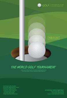 Cartaz, golfe, vetorial, ilustração