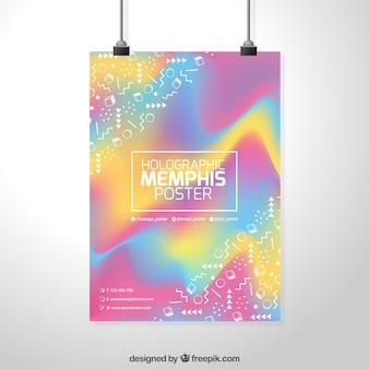 Cartaz hologramas do partido memphis
