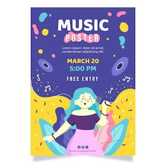 Cartaz ilustrado de evento de música