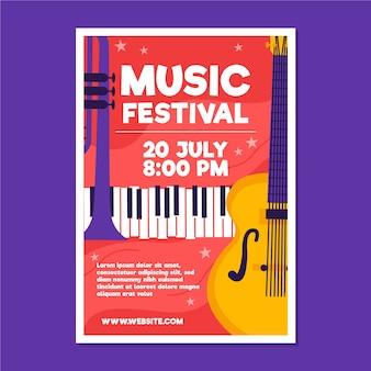 Cartaz ilustrado de música