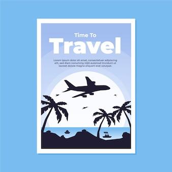 Cartaz ilustrado estilo de viagem