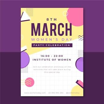 Cartaz infantil do dia da mulher em memphis