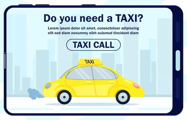 Cartaz informativo é escrito você precisa de táxi.