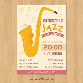 Cartaz internacional do dia do jazz