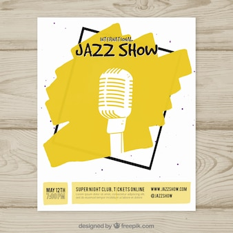 Cartaz internacional do show de jazz