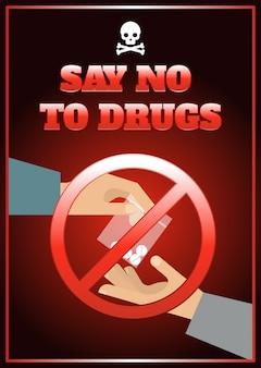 Cartaz liso das drogas