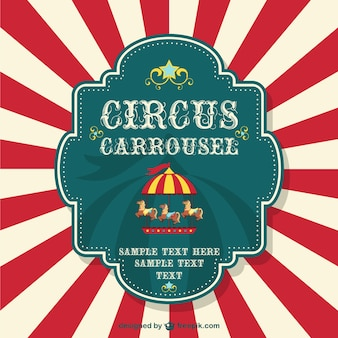 Cartaz livre carrossel circo