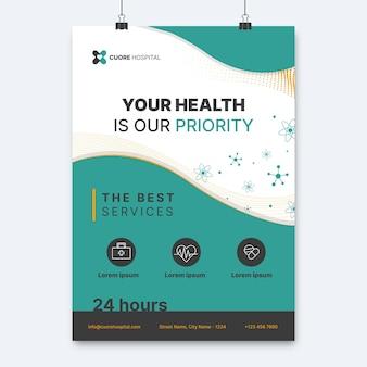 Cartaz médico elegante abstrato
