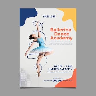 Cartaz modelo de academia de dança