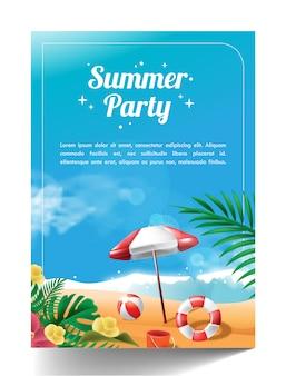 Cartaz modelo de festa de verão