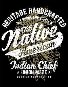 Cartaz nativo americano