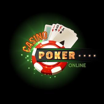 Cartaz on-line do casino poker