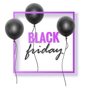 Cartaz ou banner de promoção de vendas da black friday promoção e modelo de compras
