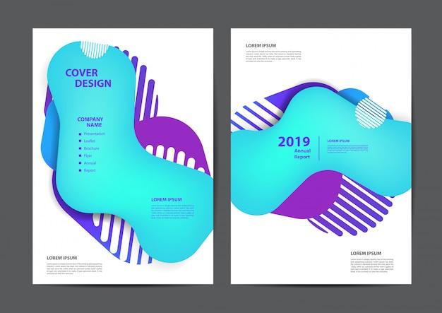 Cartaz panfleto panfleto folheto capa geométrica bolhas