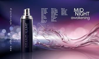 Cartaz para a promoção do produto cosmético hidratante e nutritivo premium