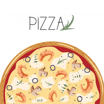 Cartaz para caixa de pizza.