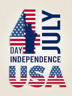 Cartaz para o dia da independência dos eua.