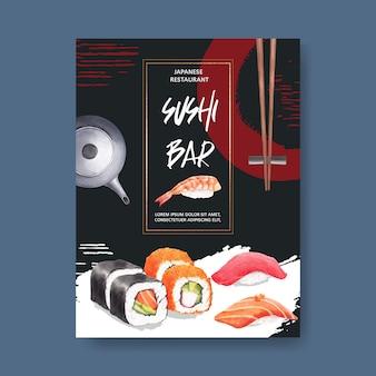 Cartaz para o restaurante de sushi