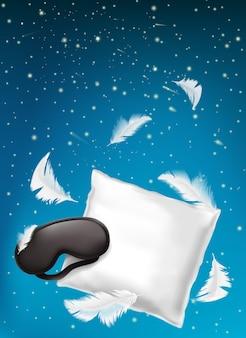 Cartaz para o sono confortável, sonho doce