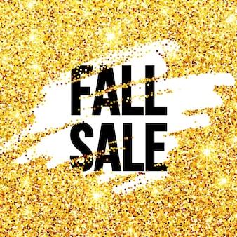 Cartaz promocional de liquidação de outono