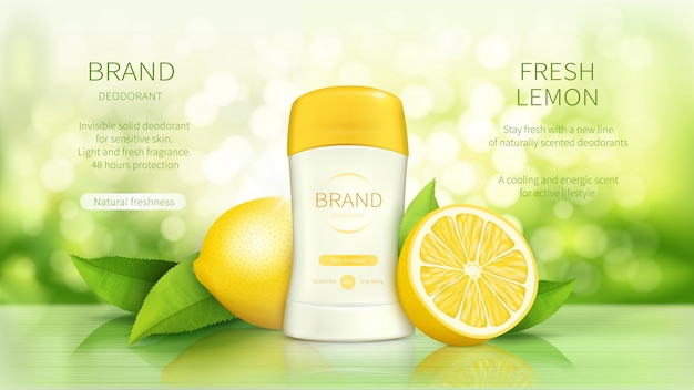 Cartaz promocional para desodorizante em stick seco